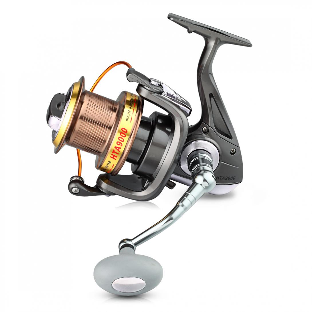 9000 Series 12+1BB 4.6:1 Full Metal CNC Rocker Arms Fishing Reel Sea Fishing Long Shot Type Line Wheel