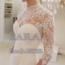srui sker Long Sleeve Mermaid Wedding Dress