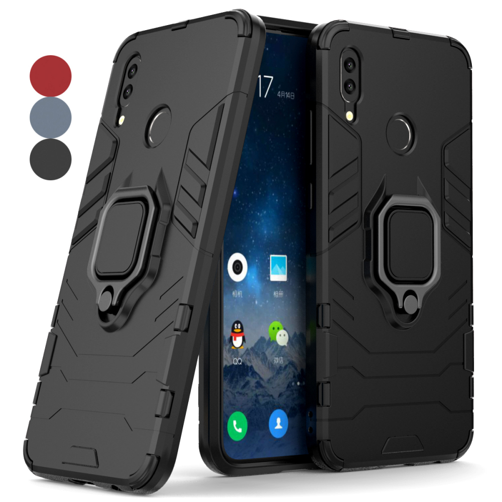 Huawei P Smart Phone Case FIG-LX1 Funda Huawei P Smart 2019 Case Ring Holder Magnet Back cover for Huawei P Smart Plus Case