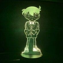 Anime Detective Conan Figure Night Lamp for Child Bedroom Unique Baby Nightlight Manga Case Closed Kids 3d Led light Gift