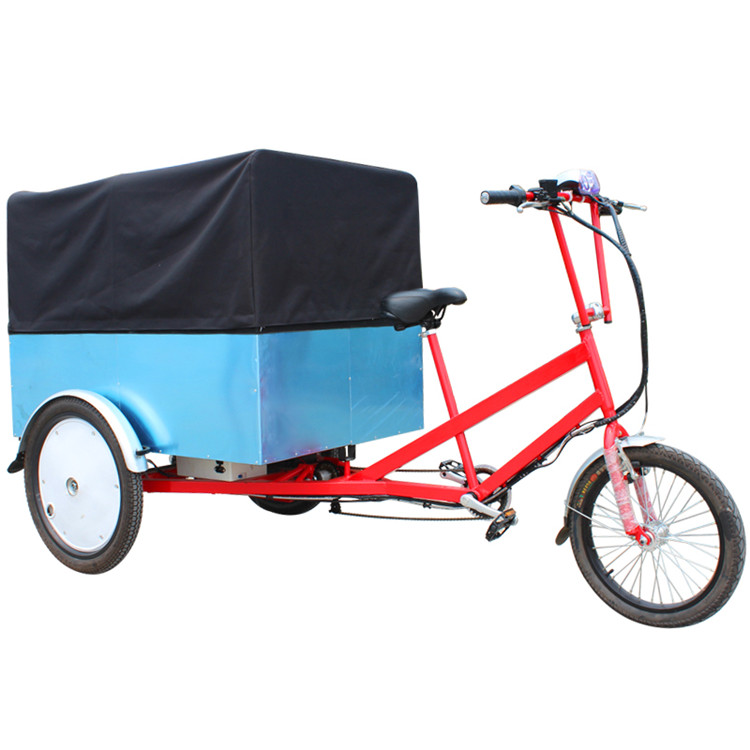 Hot Sale Electric Coffee Bike Electric Cargo Tricycle For Adults/electric Tricycle Food Cart/pedal Cargo Tricycle