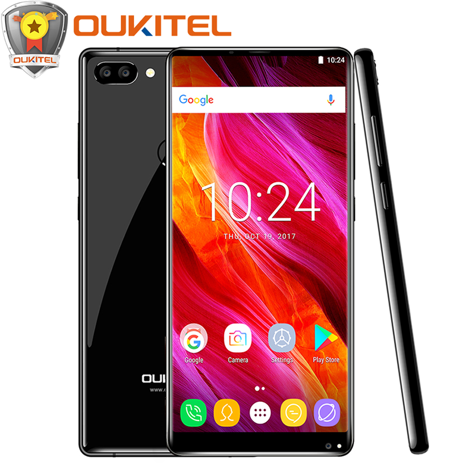 """OUKITEL MIX 2 4G Mobile Phone P25 Octa core 6GB+64GB 5.99""""FHD+18:9 Display Android 7.0 4080mAh Touch ID Dual rear lens cellphone"""