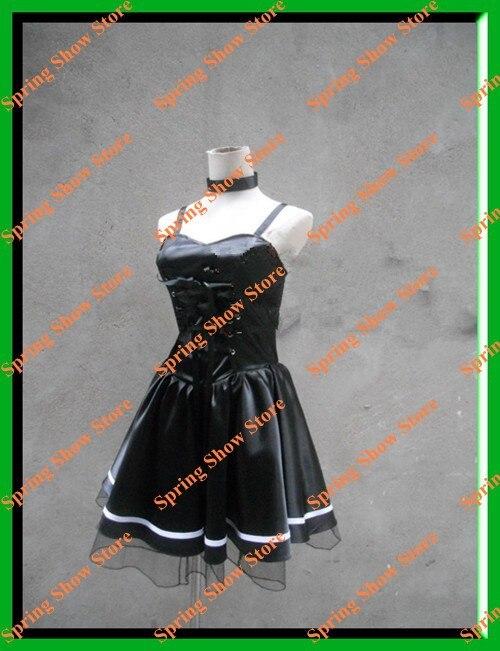 데스 노트 Heroine Amane Misa Custom 제작 블랙 데스 코스프레 의상