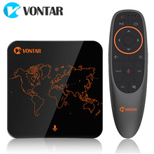 VONTAR V1 Google Sprachsteuerung Android 7.1 TV Box Amlogic S905W 2GB 16GB Streaming Google Play Store Netflix Youtube Pk X96 Mini