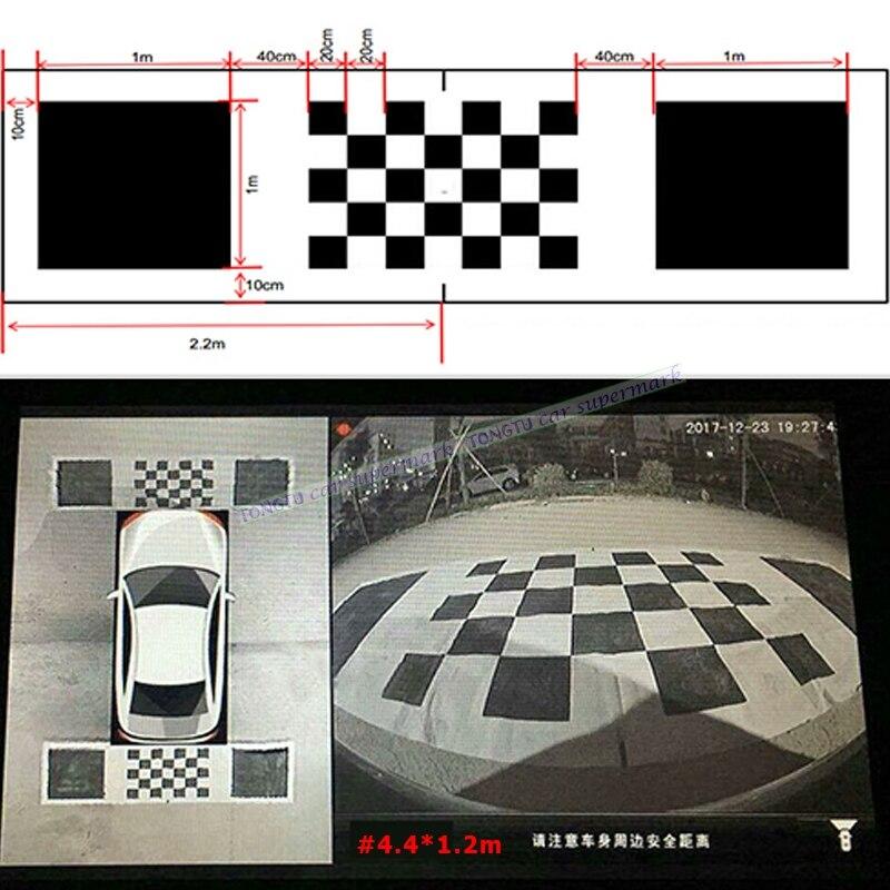 4.4*1.2m 3D Car Camera Correction Calibration Cloth for 360 Degree Surround Bird View Panoramic DVR System