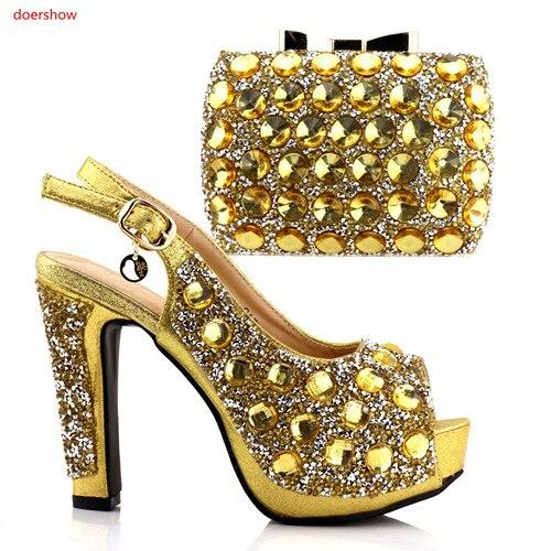 Pour Doershow Africains Chaussures Assorti 10 Partie Diamant Assortir Ly2 Les À La Avec Femmes Talian Sac Et 6p8q6rw