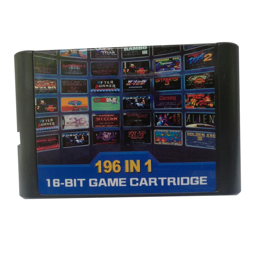 196 in 1 multi games cards cartridge 16 bit game card For Sega Mega Drive for MD