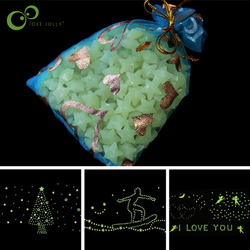 200pcs/set DIY 3D Shine Stars Glow In The Dark Luminous Fluorescent Plastic Wall Stickers for Living Home Decoration WYQ