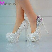 font b Custom b font Made Pearls Lady s Formal font b Shoes b font