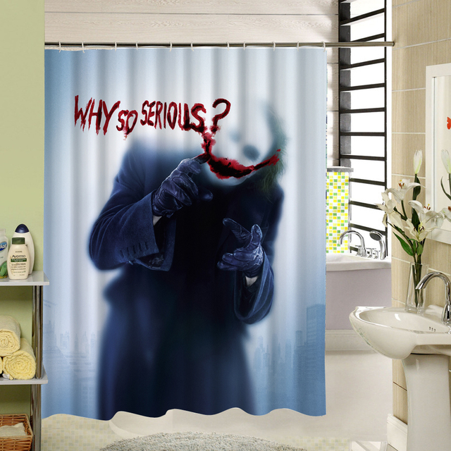 Scary Shower Curtain Polyester Fabric Quick Dry 3d Print Bathroom Decorative