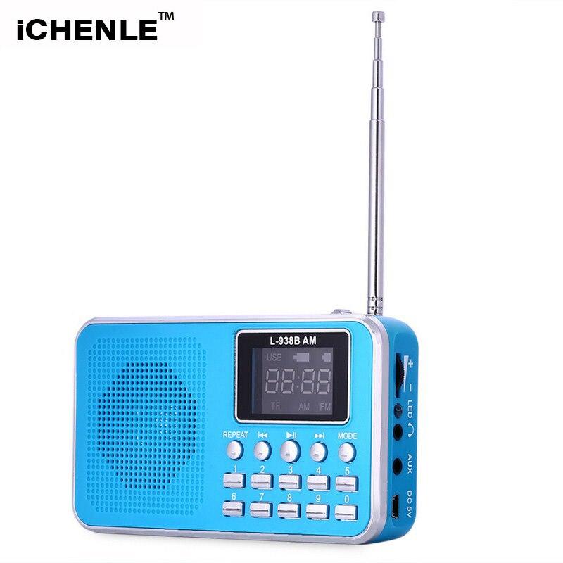 Diplomatisch Fm/am Radio Stereo Lautsprecher Mp3 Musik-player 3,5mm Aux Tf Karte Usb-festplatte Pc Handy Multifunktionale Lcd-bildschirm Wiederaufladbare Radio