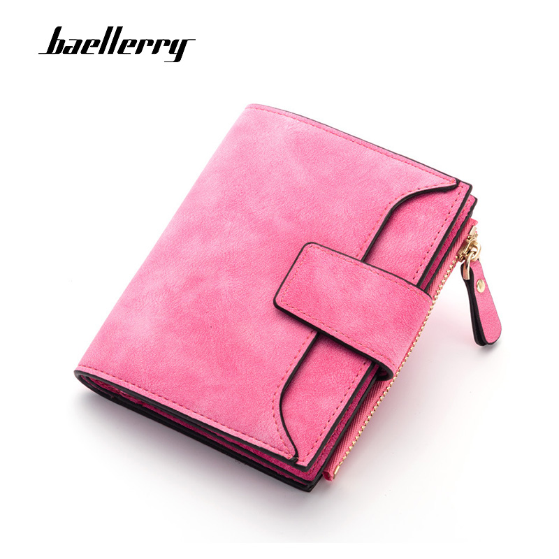 a252e37132a6 Baellerry 2019 Wallet Women Leather Zipper & Hasp Small and Slim Purse Coin  Pocket Money Bag luxury Wallets Female Cards Holder