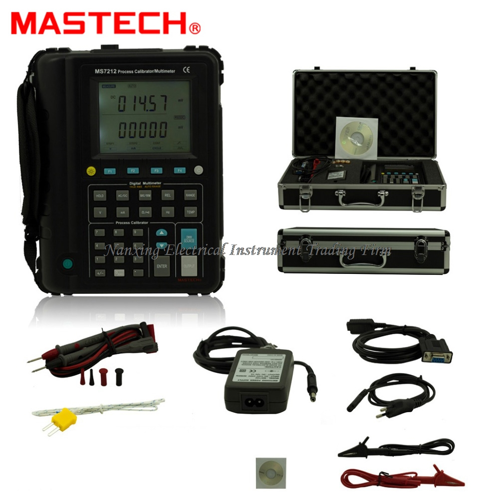 Digital Multimeter USB RS232 Mastech MS7212 Process Calibrator Voltmeter Ammeter Ohmmeter Thermometer Frequency Diagnostic-tool цена