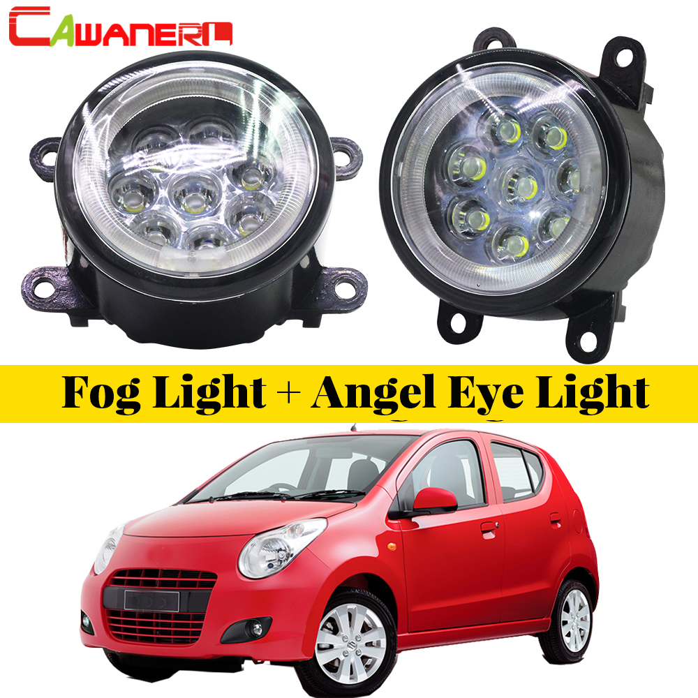 Cawanerl For 2009-2015 Suzuki Alto V GF Hatchback Car Styling LED Fog Light Lamp Angel Eye DRL Daytime Running Light 12V 2 Piece feng menglong 喻世明言