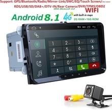 2 + 16 4 GWIFI Android8.1 автомобиля NODVD для V W Volkswagen SKODA GOLF5 Golf 6 поло PASSAT B7 T5 CC J ETTA TIGUAN GPS для автомобиля, стерео SWC DAB