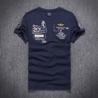 Nuovo 2017 di Estate del cotone Puro degli uomini Air Force One T-Shirt di Marca aeronautica militare uomini t-shirt Da Uomo Camicia Militare M-2XL