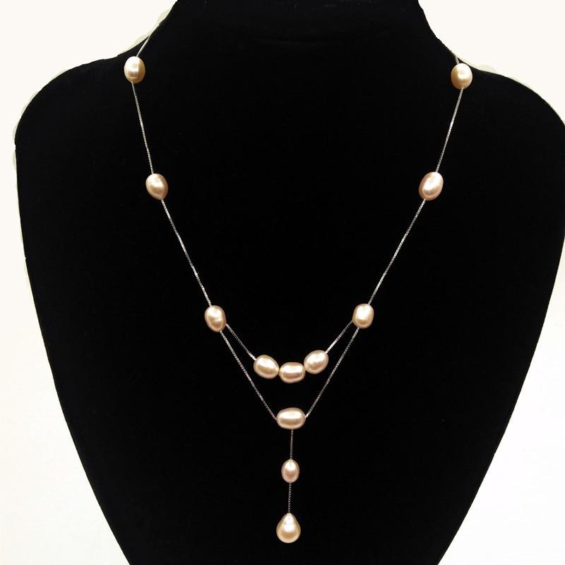 modni dizajn stvarnog 925 srebra od prirodnog bisera žene ogrlica od - Fine nakit - Foto 2