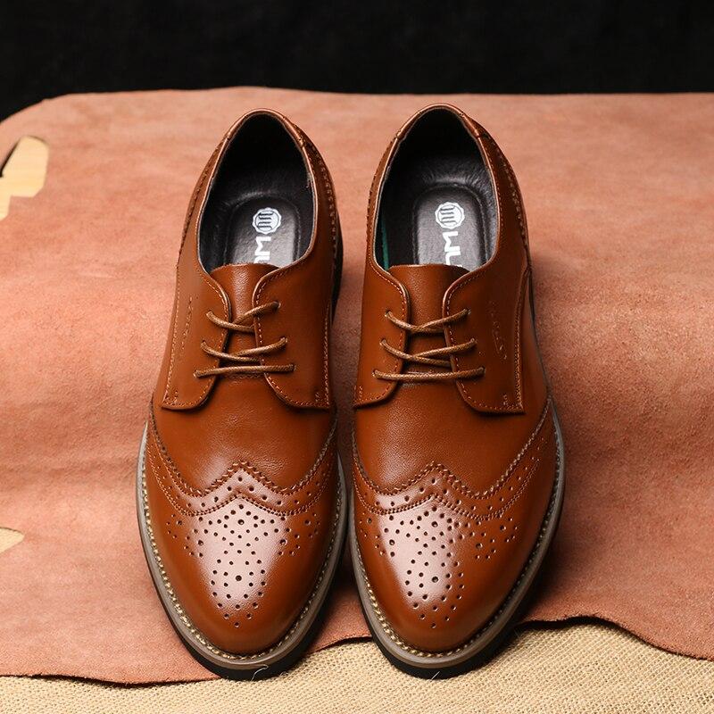 Aliexpress.com Comprar 2016 de Lujo de Diseño Italiano Vestido Formal Para Hombre Zapatos de Cuero Genuino Negro Básico Pisos Hombres Oficina de Boda de