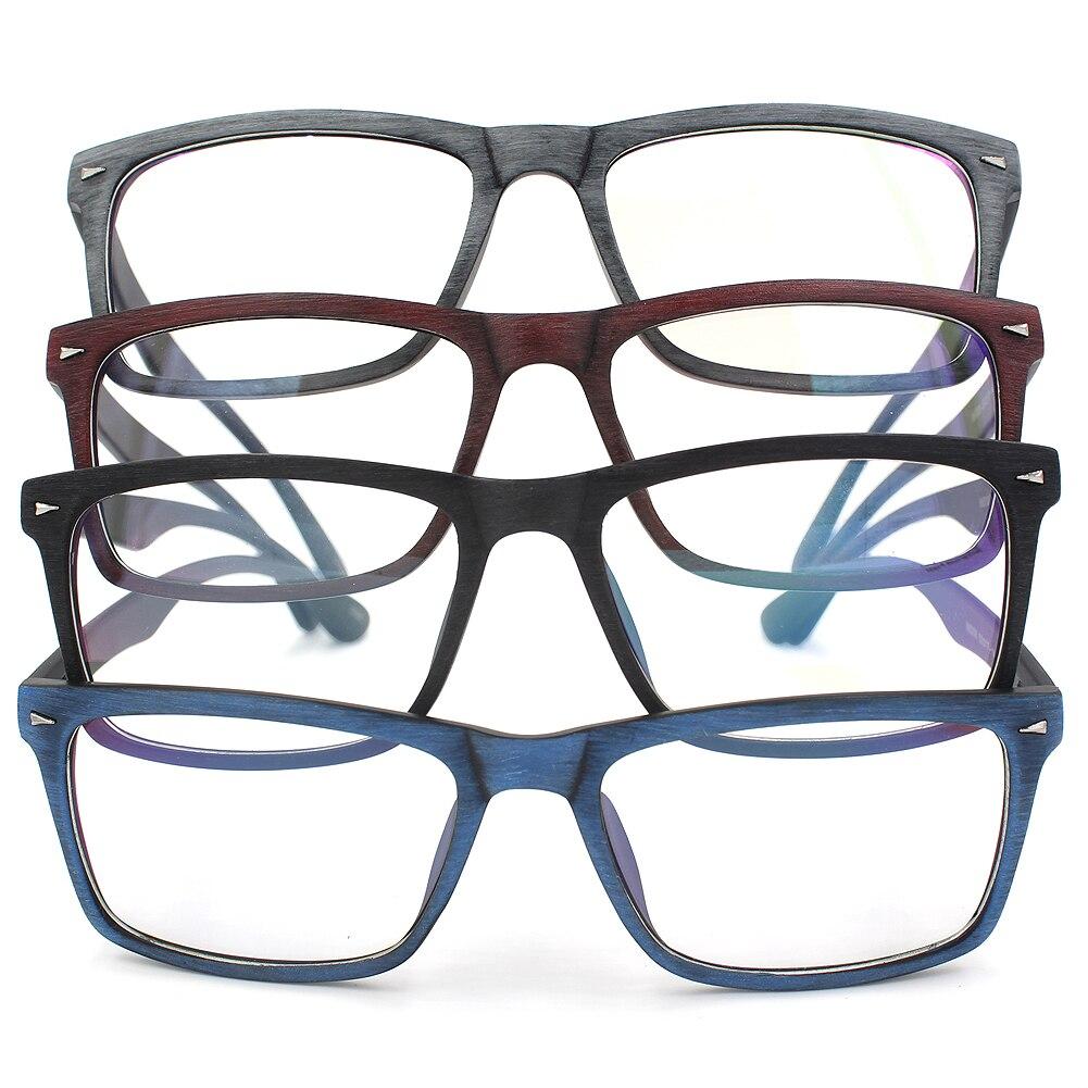 Anti azul rayos Square gafas marcos de madera como ordenador gafas ...
