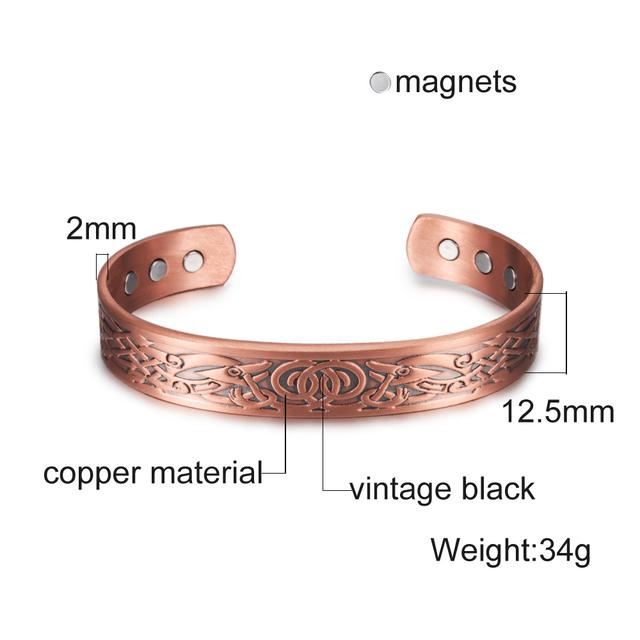 Triple Stripe Magnetarmbånd i Kobber – 1 stk