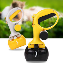 For Outdoor Supplies 2 In 1 Portable Pet Dog Cat Pooper Scooper Pick Up Waste Kitten Cleaning With Free Poop Bag