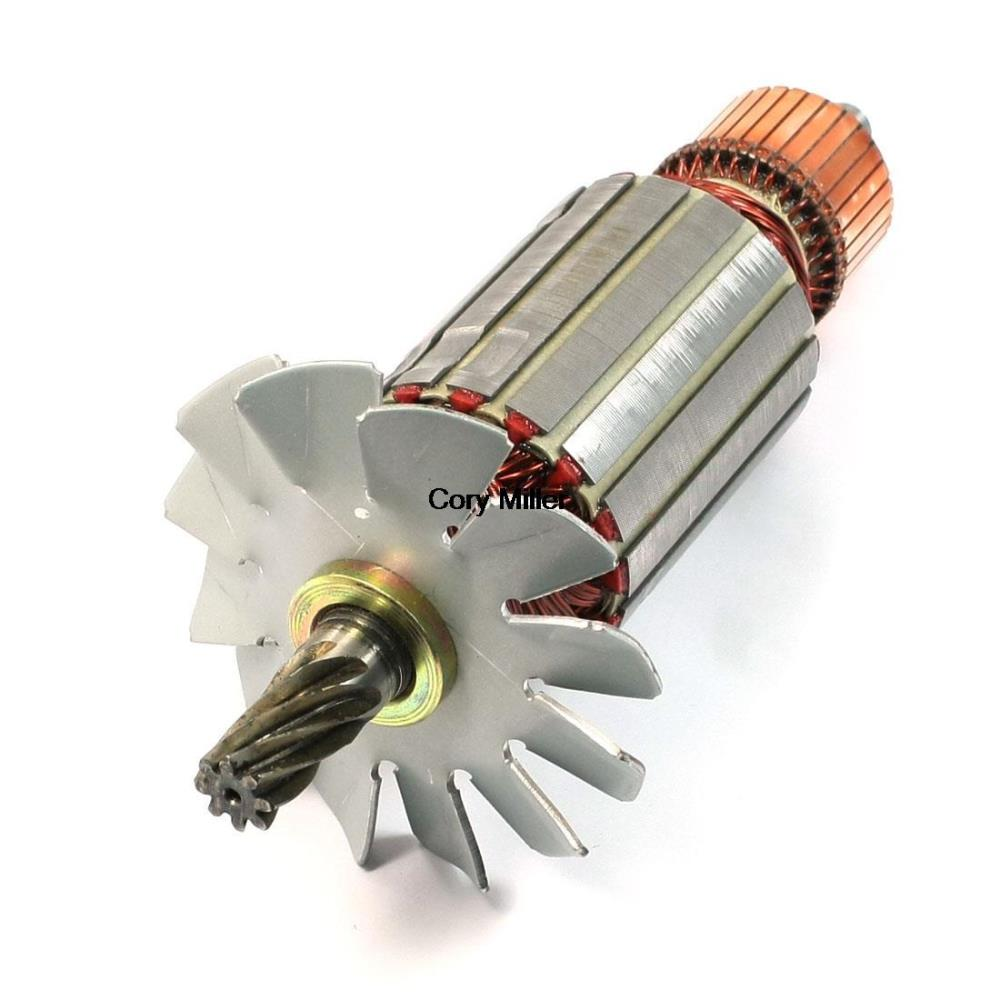 Electric Circular Saw Part AC 220V 8 Teeth Armature Rotor for Hitachi C-13 electric cutting machine armature part motor rotor ac 220v for makita 3612br