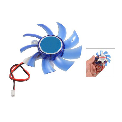 YOC Hot New 17g Blue Plastic PC VGA Display Video Card Heatsink Cooler Cooling Fan computador cooling fan replacement for msi twin frozr ii r7770 hd 7770 n460 n560 gtx graphics video card fans pld08010s12hh