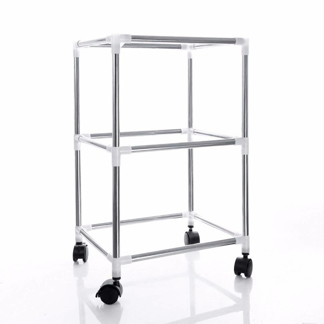 Silver Single Row 2 3 Tier Stainless Steel Seedling Tray Stand Multilayer Plant Pot Stand Grow