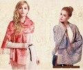 75*195 см Кисточкой Шарф Печатных Тартан Шаль Плед Cachecol Inverno Хлопка Шарф Женщины Высокая Мода Роскошный Платок Одеяло шарф