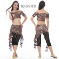 Belly Dance Outfit 3pcs Top&Waist scraf+pants Bellydance Costume Professionals6Colors Traje Danza Del Vientre Bollywood Costume