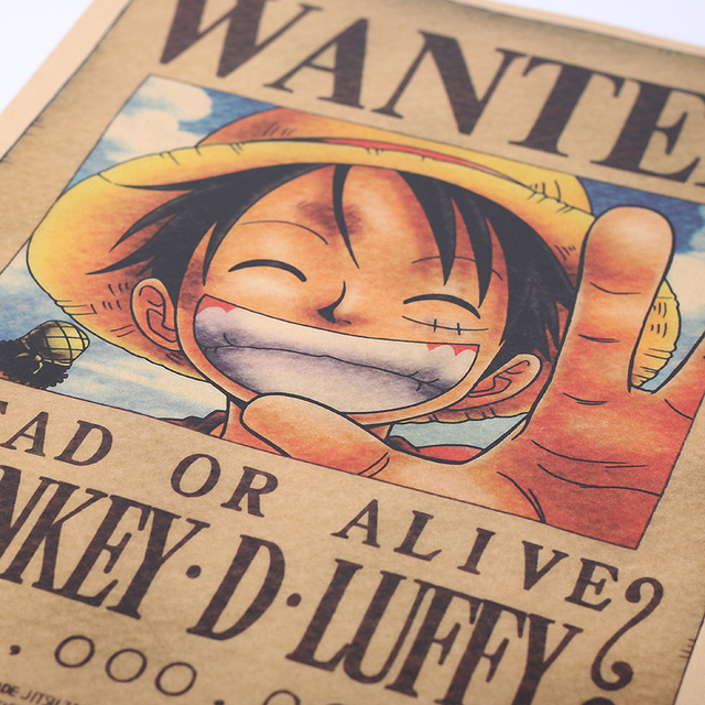 One Piece Posters Luffy Wanted