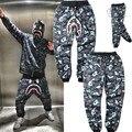 Зимний камуфляж штаны gymshark полная длина hip hop шаровары мужчины шнурок мода руно теплые грузов мужские пресс для z10