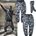 Winter camouflage sweatpants  gymshark full length hip hop harem pants men drawstring fashion fleece warm cargo mens trouser z10