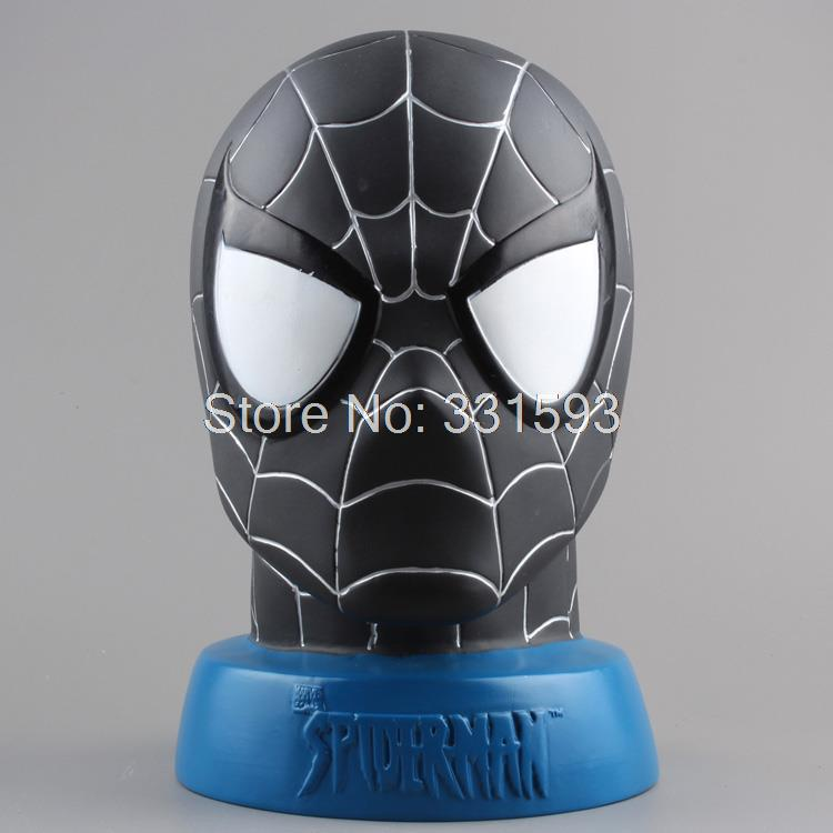 Super Hero <font><b>Spider-man</b></font> Piggy <font><b>Bank</b></font> Spiderman PVC Action Figures Collectible Toys Dolls Christmas Gifts For Kids Free Shipping