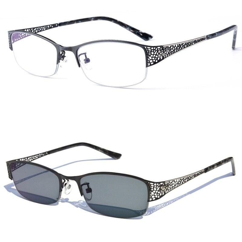 Vazrobe Elegante Gläser Frauen Photochrome Dioptrien Myopie Punkte Übergang Rezept Punkte Für Weibliche Uv400 1,56 1,61 1,67 Damenbrillen