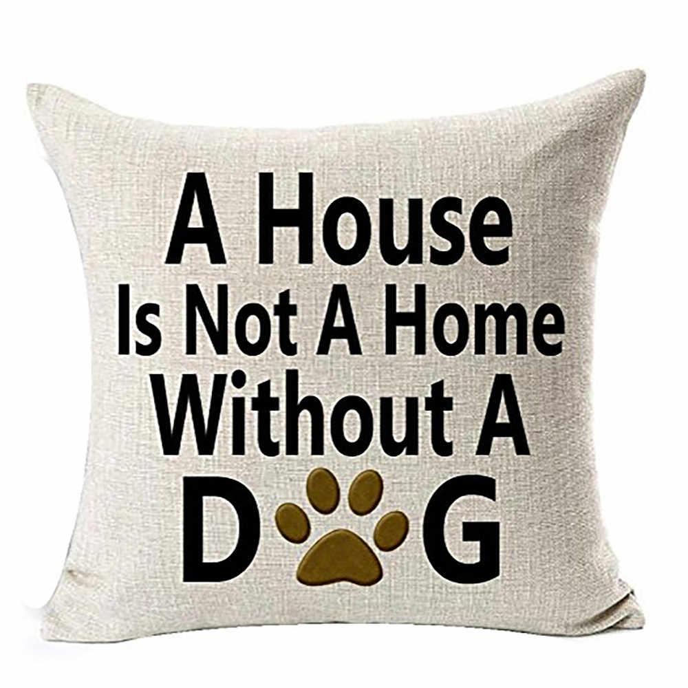 Best Dog Lover ของขวัญ Simple Text พิมพ์หมอนผ้าฝ้ายลินินโยนคุณภาพสูงเบาะรองนั่งโซฟาบ้านตกแต่ง