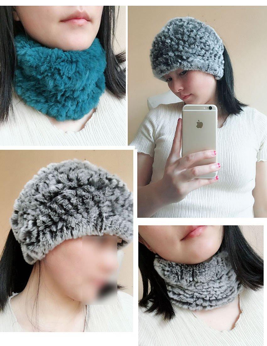 genuine rex rabbit fur scarf neck warmer (1)