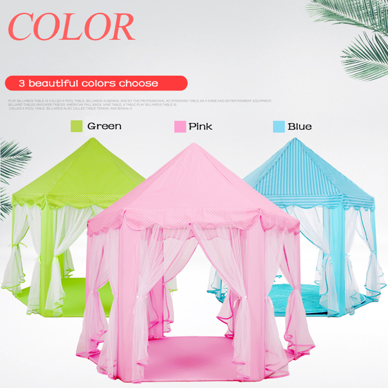 Kids Portable Hexagon Princess Castle Children Tents Indoor Outdoor Large House Game House Teepee Baby Playpens Mosquito Tent south korea six large angle princess castle tulle children toy house large game room selling mosquito tent puzzle tent toy