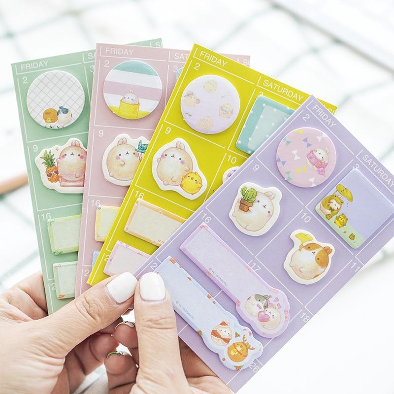 12pcs/lot Korean Stationery Cute Potato Rabbit Multi-purpose Office Message Scratch Pad N Stickers Cartoon Post Memo Pad