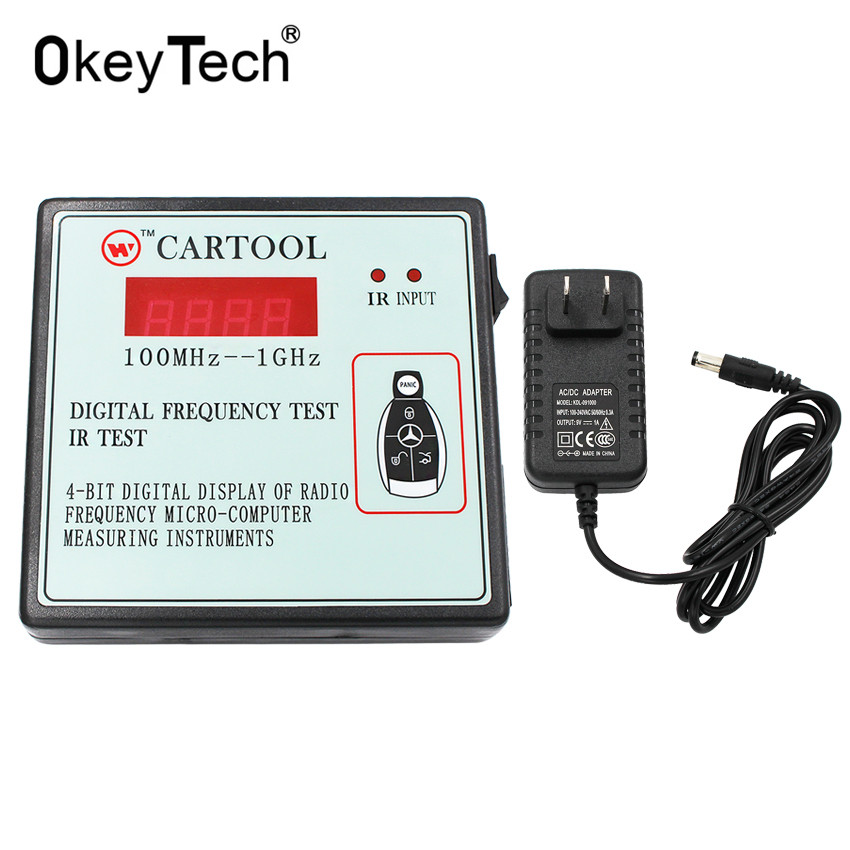 OkeyTech Digital Display Of Radio Frequency IR Test Micro Computer Measuring Instruments,Car Key Wireless Remote Control Tester-in Code Readers & Scan Tools from Automobiles & Motorcycles