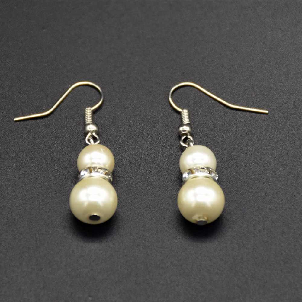 2018 new year  fashion Pearl Earrings White and gray Pearl  Earrings For Women/Girls