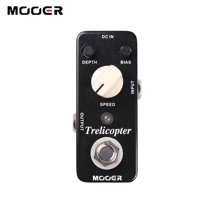 MOOER Trelicopter Classic optical /Full metal shell True bypass  Slow Motion Pedal Guitar effect pedalMOOER Trelicopter Classic optical /Full metal shell True bypass  Slow Motion Pedal Guitar effect pedal