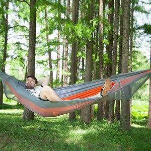 Image 4 - VILEAD 自動展開ハンモック蚊安定した超軽量ポータブルハイキング狩猟キャンプベビーベッド睡眠ベッド 290*140 センチメートル