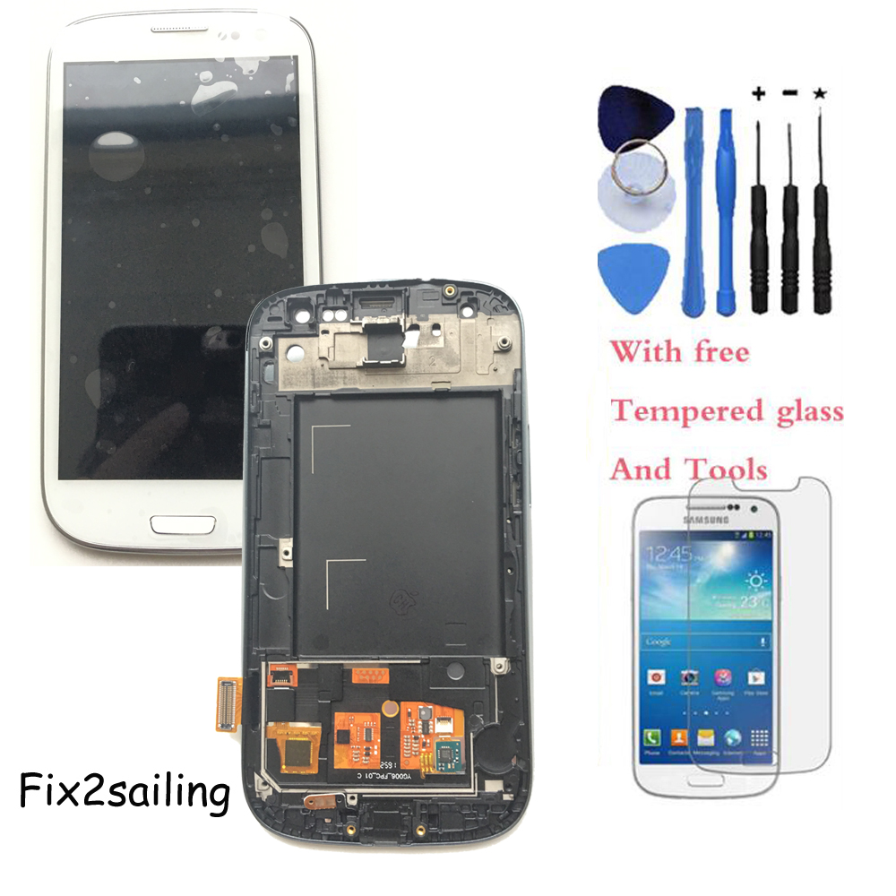 New 100% Tested LCD Display Touch screen with digitizer Assembly + Frame For Samsung Galaxy  S3 i9300  With Tools brand new lcd for samsung galaxy a3 a3000 a300 a300x a300f screen display with touch digitizer assembly