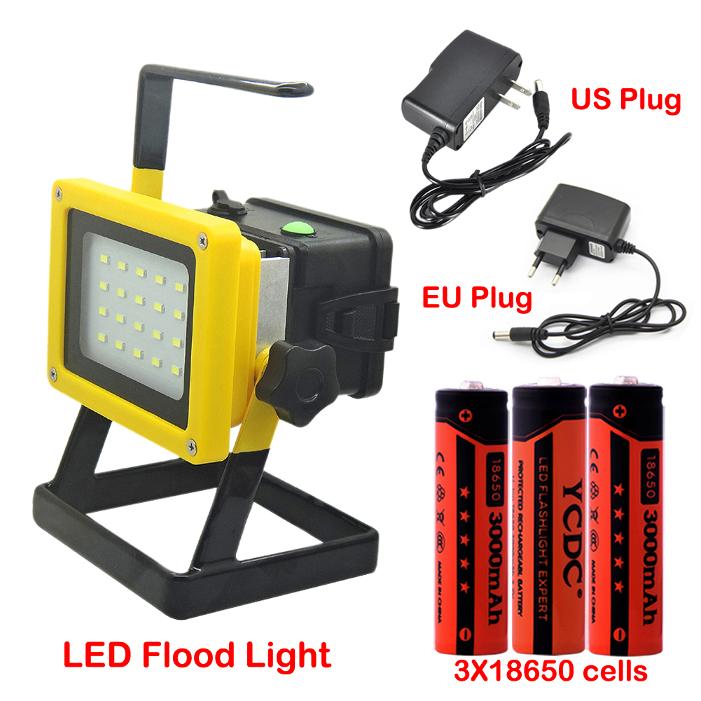 Sale Cheap Waterproof IP65 LED Flood Light 20LED Portable Spotlights Rechargeable Outdoor LED Work Emergency Light