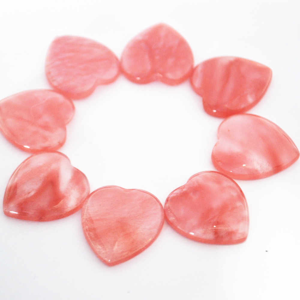 Natural Stone Heart Shape Cabochons CAB Cherry Quartz Top Quality Beads For Jewelry Making 23x25mm Wholesale 20Pcs Free Shipping