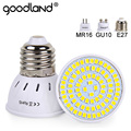 Goodland E27 LED Lamp 220V 240V MR16 GU10 LED Bulb LED Spotlight Bulb Lampada 48/60/80LEDs SMD 2835 For Indoor Home Spot Light