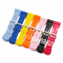 Watch accessories resin strap mens pin buckle rubber watch band for Casio BABY-G BA-111 BA-110 BA-112 BA-120 with women