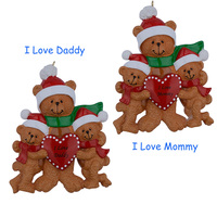 I Love Mommy 3 Personalized Ornament