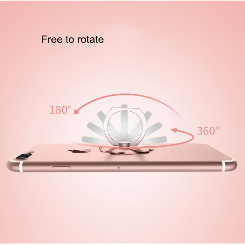 Universal Mobile Phone Holder 360 Degree Rotation Finger Ring Holder Magnetic Car Bracket Desk Stand Mobile Phone Accessories